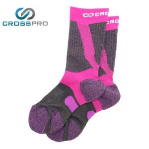 クロスプロ CROSS PRO トレッキングソックス レディース 3DFアーチPダブルテーピングクルーCW Z178-100-22-80 od|himarayaod