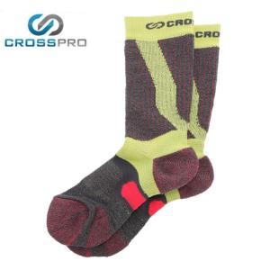 クロスプロ CROSS PRO トレッキングソックス メンズ レディース 3DFアーチPダブルテーピングクルーCW Z178-100-24-80 od|himarayaod
