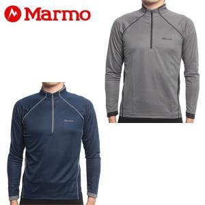 マーモット Marmot 長袖シャツ メンズ HEAT NAVI L/S Zip ヒートナビロングスリーブジップ MJK-F7063 od|himarayaod