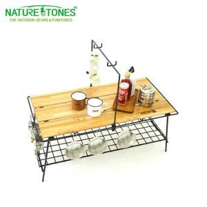 ネイチャートーンズ NATURE TONES アウトドアテーブル 大型テーブル THE FOLDING CAFE TABLE カフェテーブル CA-DB od|himarayaod