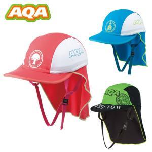 アクア AQA 帽子 ジュニア UV DRY フラップキャップ KW-4468A od|himarayaod
