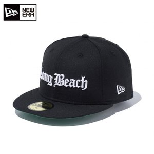ニューエラ NEW ERA キャップ メンズ レディース 59FIFTY オールドイングリッシュ Long Beach ロングビーチ ブラック × スノーホワイト 11557518 od|himarayaod