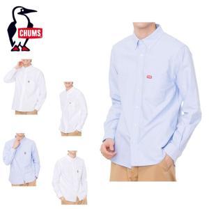 チャムス CHUMS 長袖シャツ メンズ OX Shirt オックスシャツ シャツ CH02-1074 od|himarayaod
