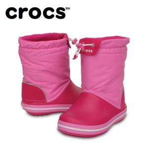 クロックス スノーブーツ 冬靴 ジュニア crocband lodgepoint boot kids クロックバンド ロッジポイント ブーツ キッズ 203509-6LR crocs od|himarayaod