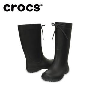 クロックス レインブーツ レディース crocs freesail rain boot w クロックス フリーセイル レイン ブーツ ウィメン 203541-001 crocs od|himarayaod