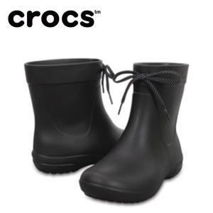 クロックス レインブーツ レディース crocs freesail shorty rainboot w クロックス フリーセイル ショーティー レイン ブーツ ウィメン 203851-001 crocs od|himarayaod