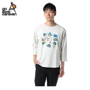 ゴースローキャラバン Go Slow Caravan Tシャツ 長袖 メンズ 鹿の子 テント 8分袖 391902 OATMEAL od|himarayaod
