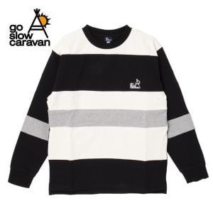 ゴースローキャラバン Go Slow Caravan 長袖 Tシャツ FATボーダーヘビーロンTEE 396105 BLACK od|himarayaod
