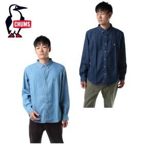 チャムス CHUMS 長袖シャツ メンズ BD Denim Shirt BD デニムシャツ トップス シャツ CH02-1092 od|himarayaod