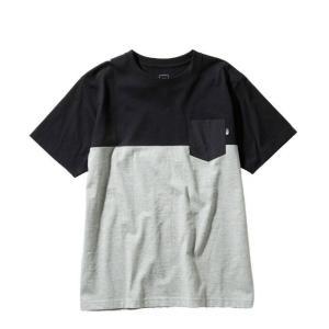 ノースフェイス Tシャツ 半袖 メンズ S/S 2 Tone Pocket Tee トーン ポケット ティー NT31949 K THE NORTH FACE od|himarayaod