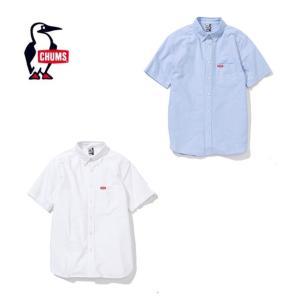 チャムス CHUMS 半袖シャツ メンズ CHUMS OX Shirt S/S チャムスオックスシャツ半袖 トップス シャツ CH02-1075 od|himarayaod