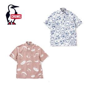 チャムス CHUMS 半袖シャツ メンズ Chumloha P/O Shirt チャムロハプルオーバーシャツ CH02-1106 od|himarayaod