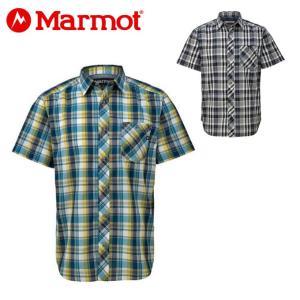 マーモット Marmot 半袖シャツ メンズ キューディーチェックハーフスリーブシャツ TOMNJA76 od|himarayaod