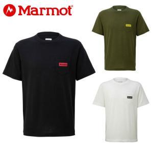 マーモット Marmot Tシャツ 半袖 メンズ ポケットロゴハーフスリーブクルー TOMNJA61 od|himarayaod