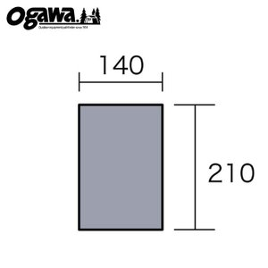 オガワテント OGAWA グランドシート PVCマルチシート220×150用 1401 od|himarayaod