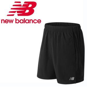 ニューバランス ショートパンツ メンズ レディース アクセレレイト7インチショーツ インナー付き AMS81281 BK new balance run|himarayarunning