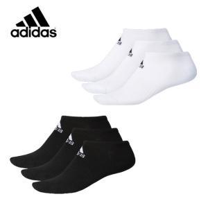 アディダス 3足組ソックス メンズ レディース BASIC 3P アンクルソックス DMK57 adidas sc|himarayasc