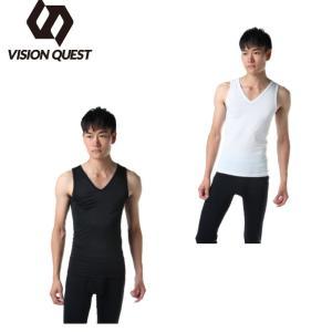 ビジョンクエスト VISION QUEST  アンダーウェア ノースリーブ メンズ ストレッチインナーシャツ VQ570412H03  sc|himarayasc
