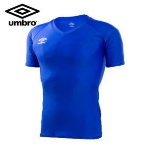 アンブロ(UMBRO) サッカー 半袖アンダーシャツ(メンズ) パワーインナーS/S Vネックシャツ (UAS9701-BLU)2017SS  sc|himarayasc