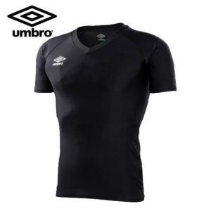 アンブロ(UMBRO) サッカー 半袖アンダーシャツ(メンズ) パワーインナーS/S Vネックシャツ (UAS9701-BLK)2017SS  sc|himarayasc