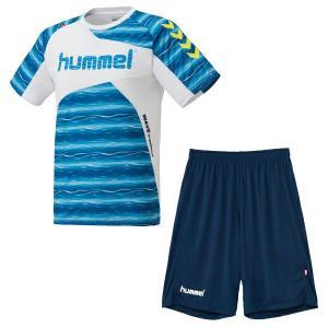 ヒュンメル hummel サッカーウェア 半袖シャツ ジュニアプラクティススーツ HJP1132SP-10 sc|himarayasc