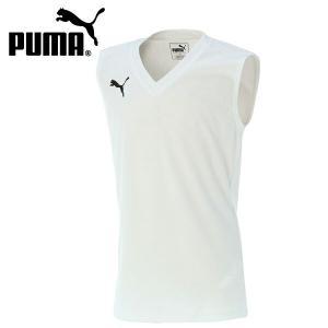 ジュニア プーマ PUMA サッカー フットサル ノースリーブ タンクトップ ジュニアSLインナーシャツ 655278-02 sc|himarayasc