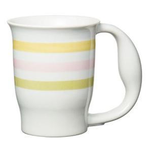 ほのぼのマグカップ 絵柄:ストライプ (生活支援・介護予防用品) フォーライフメディカル D08146|himawari-kaigo
