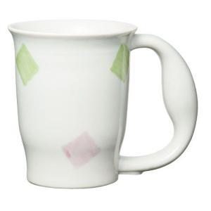 ほのぼのマグカップ 絵柄:スクエアー (生活支援・介護予防用品) フォーライフメディカル D08146|himawari-kaigo