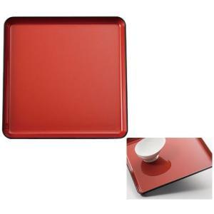 耐熱すべり止めトレー 角盆 カラー:レッド (生活雑貨・自活) フォーライフメディカル himawari-kaigo