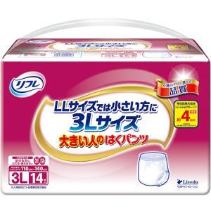 リフレ 大きい人のはくパンツ (3Lサイズ) 1袋14枚入 [パンツタイプ ] 大人用紙おむつ G00355|himawari-kaigo