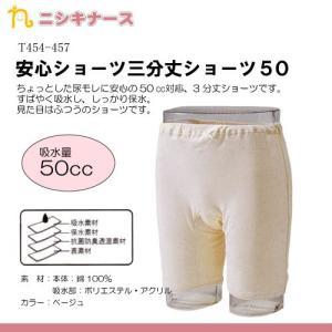 ニシキ株式会社 安心ショーツ三分丈ショーツ50 (サイズS〜LL:4544-4547) 介護用衣料 失禁用品|himawari-kaigo