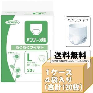 ネピアテンダー パンツタイプ うす型らくらくフィット Lサイズケース 30枚入×4袋 大人用紙おむつ 介護用オムツ G00432|himawari-kaigo