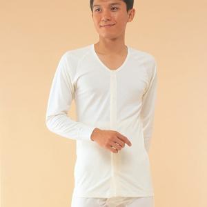 コベス 前開き長袖(ラグラン袖) 紳士用 サイズS/M/L A04931|himawari-kaigo