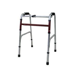 ひまわり アルミ製 固定歩行器 ささえ 1段グリップ MD 【介護用品】|himawari-kaigo
