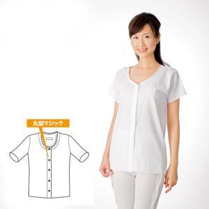 コベス クレープ婦人前開き半袖 サイズM/L (A04919)|himawari-kaigo