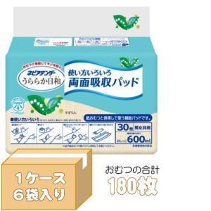(A) ケース販売 ネピアテンダー うららか日和 両面吸収パッド ケース(30枚入×6袋) G00877 尿とりパッド (パット) 大人用 紙おむつ 介護用オムツ|himawari-kaigo