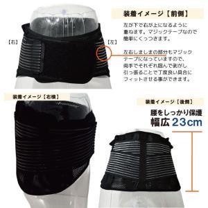 腰痛ベルト 腰痛対策サポーター ささえ腰ガード 安心の返品保証 カラー:ブラック ひまわり 腰痛ベルト 予防 サポーター 腰用ベルト 腰ベルト 男女兼用|himawari-kaigo|03