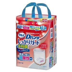 白十字 サルバDパンツ しっかりガード長時間 (M〜L)18枚入 パンツタイプ 市販用 介護用オムツ (おしっこ約5回分)|himawari-kaigo
