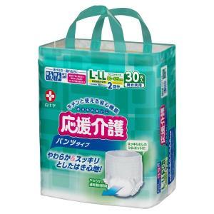 販売終了!白十字 応援介護 パンツタイプ L-LLサイズ (袋単位販売:1袋30枚入)(おしっこ約2回分)|himawari-kaigo