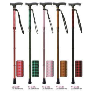 杖 ステッキ 軽量 さぽーと 雨にも負けず 4つ折伸縮ステッキ VH34型 VH3400-VH3404 介護用品|himawari-kaigo