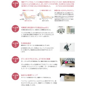 介護ベッド 介護ベット パナソニック 電動ケアベッド RS(3モーター) お得な3点セット ベッド+マットレス+サイドレール|himawari-kaigo|03