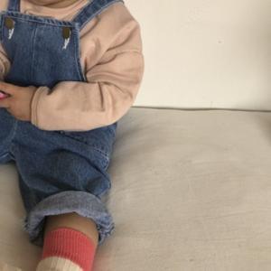 キッズ デニムサロペット ジュニア服 ボトムス サロペット オーバーオール 女の子 男の子 デニム ブルー 90 100 110|himawari1013