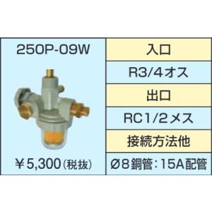 サンダイヤ 250P-09W 3WAYストレーナバルブ R3/4オス・RC1/2メス,8φ銅管,15A|himawaridensetsu
