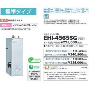長府 石油給湯器 エコフィール EHI-4565SG 減圧式標準力型・給湯のみ 標準タイプ|himawaridensetsu