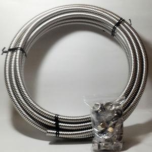 フレキチューブ 1/2(φ16.8)×10m巻と袋ナット10組セット ステンレスSUS316L 即日出荷|himawaridensetsu