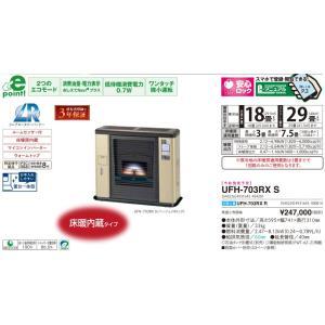 サンポット UFH-703RX S ゼータスイング FF式床暖ストーブ 木造18畳 ウォームトップ himawaridensetsu
