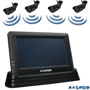 マスプロ防犯カメラフルセット WHC7Mと増設用カメラ(WHC7M-C)3台と16GBmicroSDカード 即日出荷