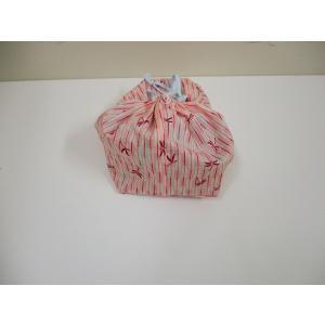 ハンドメイド 巾着袋 とんぼ柄