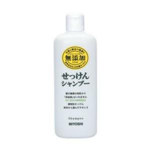 商品名:ミヨシ 無添加 せっけん シャンプー レギュラー 350ml(石鹸シャンプー) JANコード...