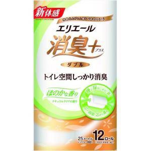 エリエール消臭+ トイレットティシュー ダブル ほのかに香るナチュラルクリアの香り 12ロール|himejiryutsuu